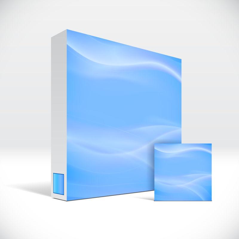抽象矢量现代时尚波纹元素的药盒包装设计