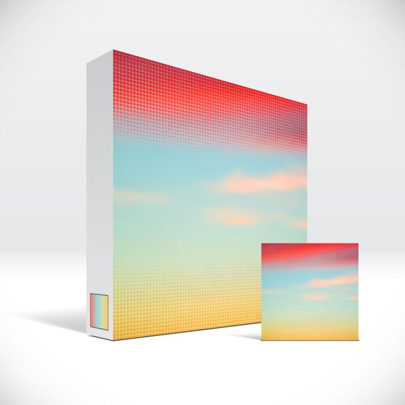 创意矢量天空元素的药盒包装设计