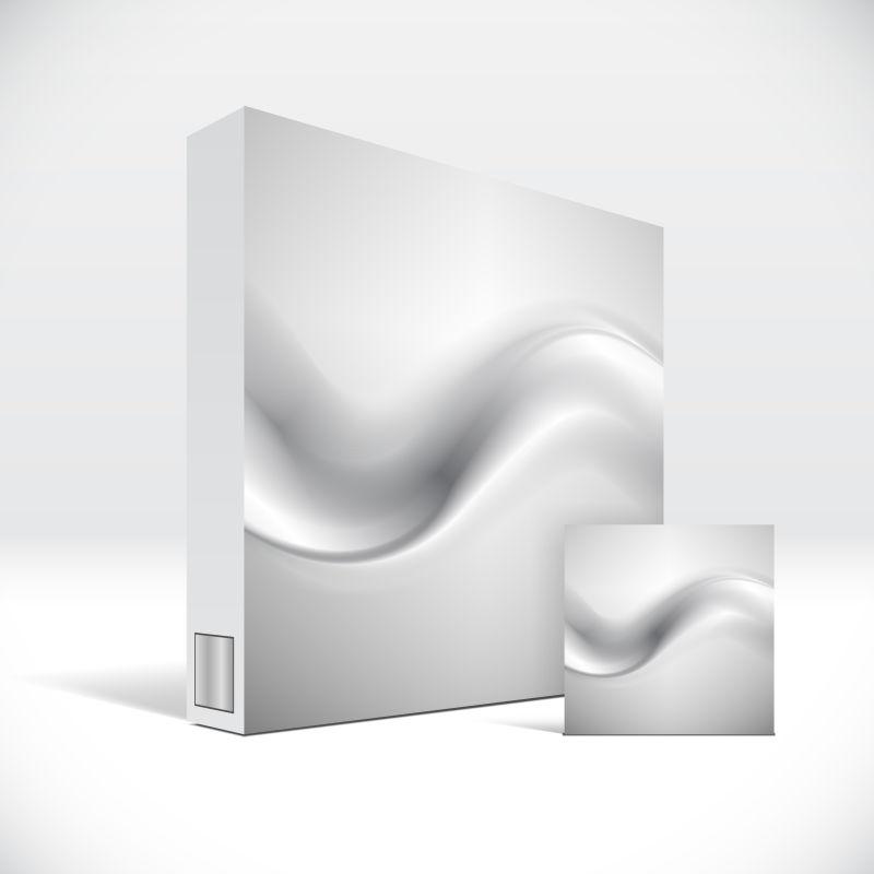 抽象矢量波浪元素的单色药盒包装设计
