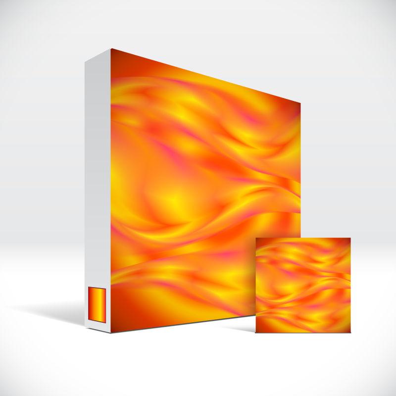 创意矢量现代彩色装饰的药盒包装设计