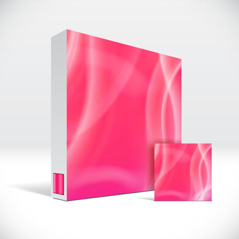 创意矢量现代粉色波纹元素的药盒包装设计