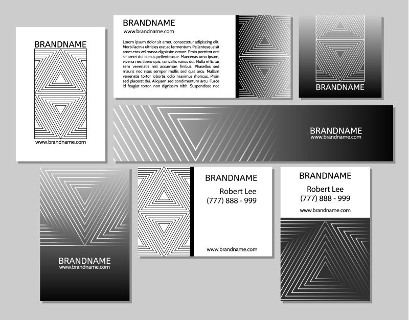 创意矢量现代线性优雅宣传单设计