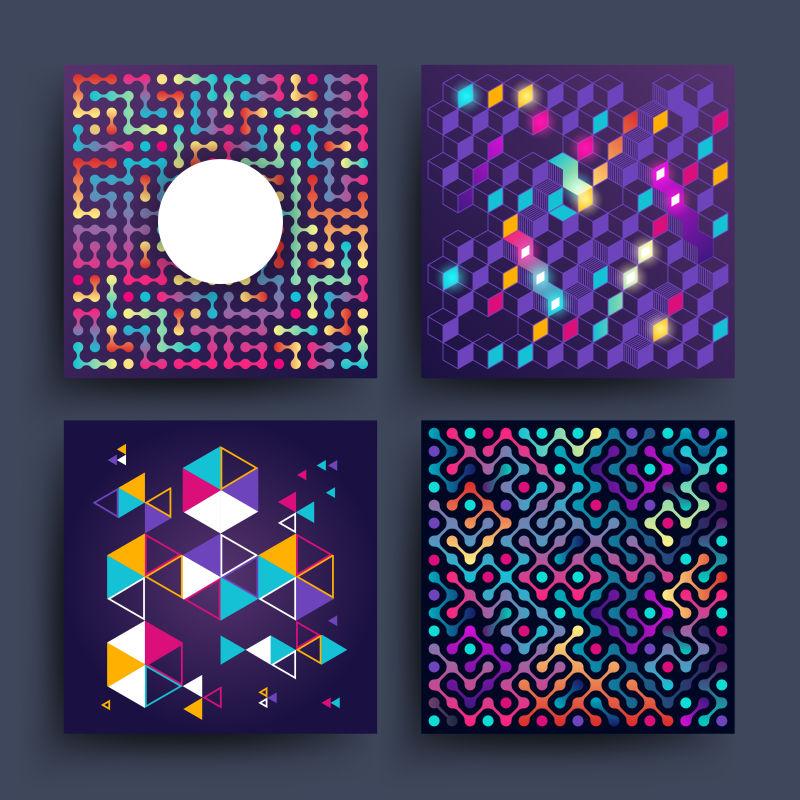 复古简约简单的矢量背景与几何形状的封面,海报,海报,传单和横幅设计。