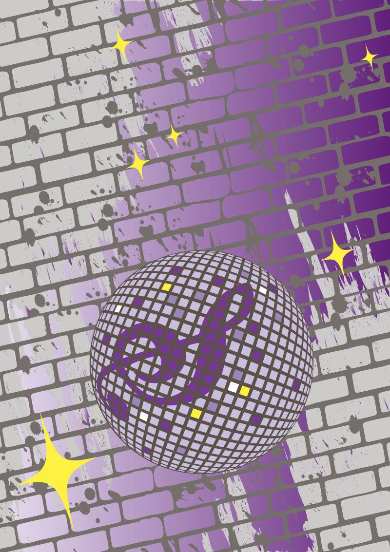创意矢量复古迪斯科主题派对海报设计