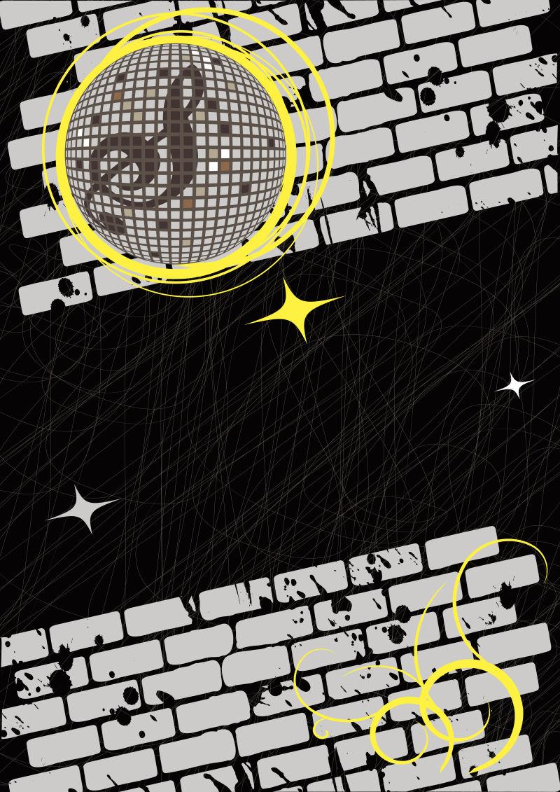 抽象矢量复古舞会派对海报设计