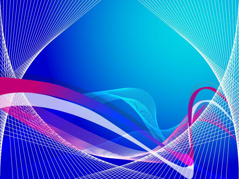 抽象矢量彩色时尚线条背景