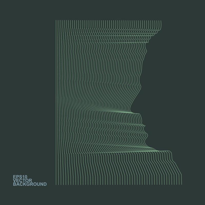 创意矢量面部轮廓元素装饰科技背景设计
