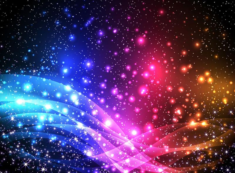 抽象矢量五彩星光元素背景设计