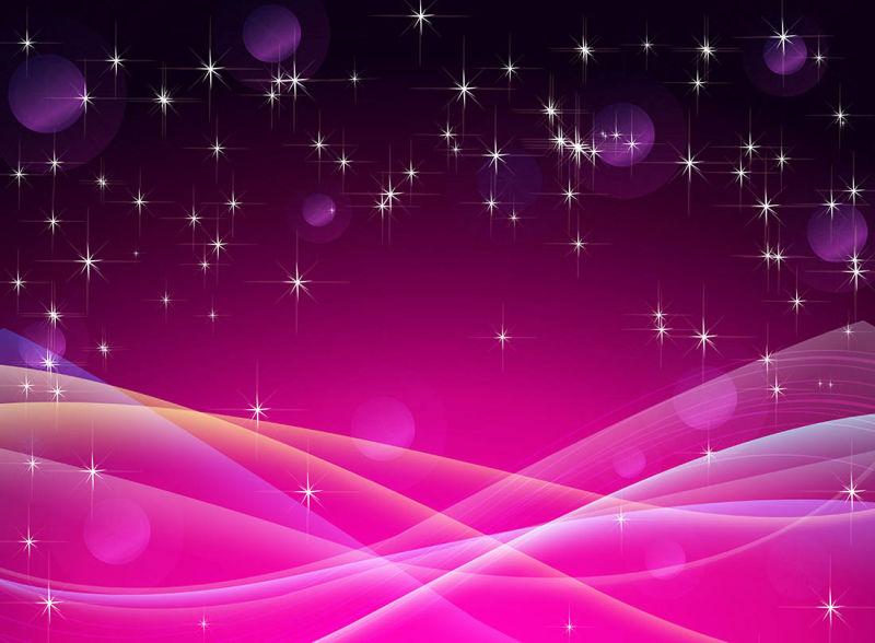 创意矢量粉色光线庆祝背景