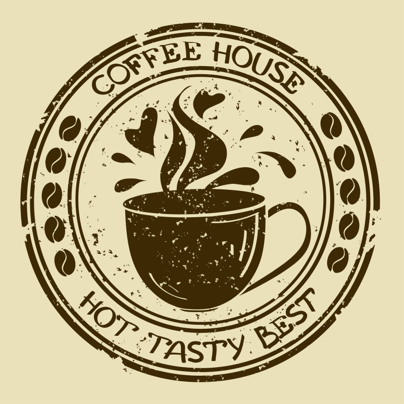 创意矢量现代咖啡标志设计