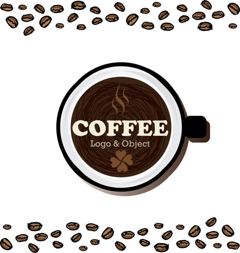 创意矢量咖啡元素背景设计