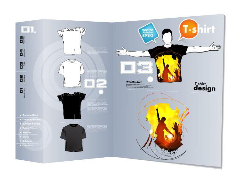 抽象矢量狂欢人群元素的T恤设计
