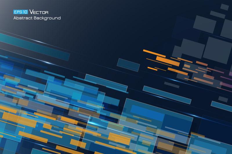 抽象矢量彩色矩形梦幻背景设计