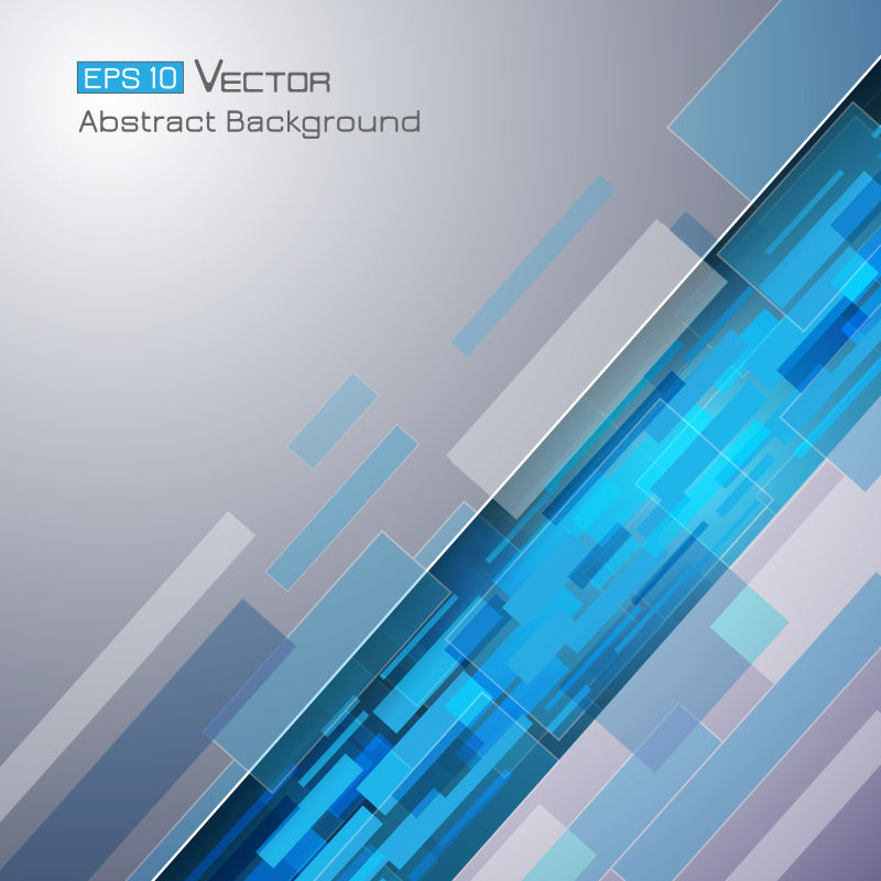 创意矢量蓝色矩形元素设计背景