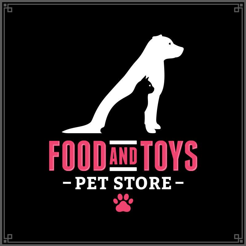 矢量宠物商店标志