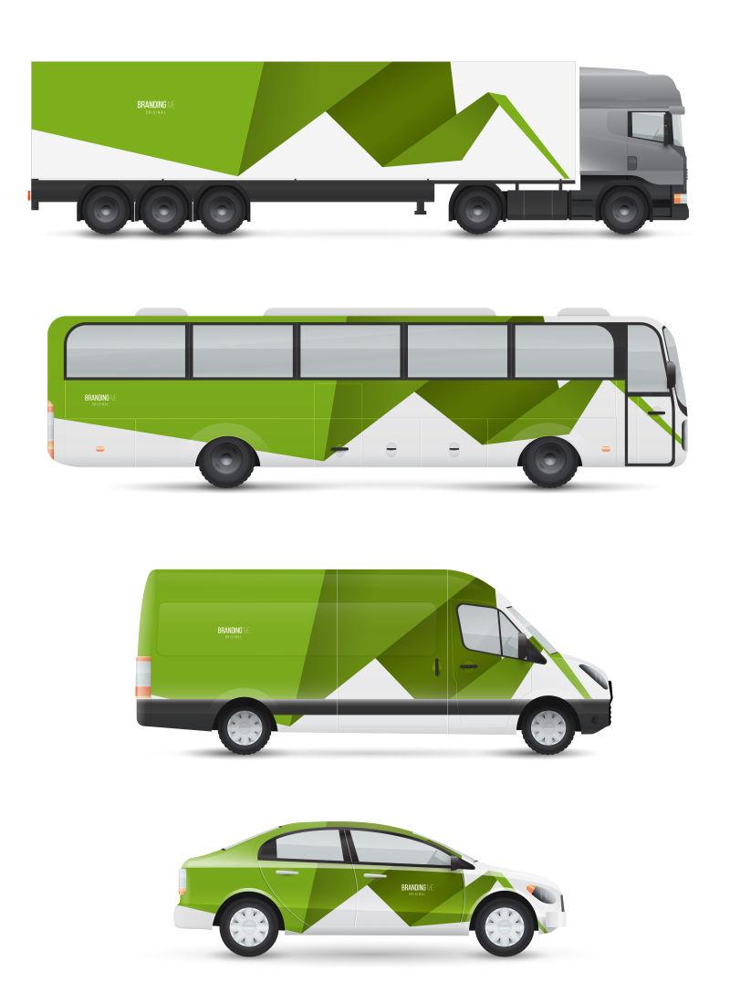 创意矢量现代企业车辆设计