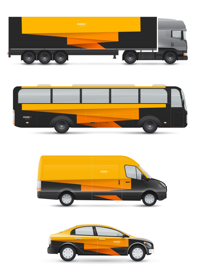 创意矢量现代时尚广告车辆设计