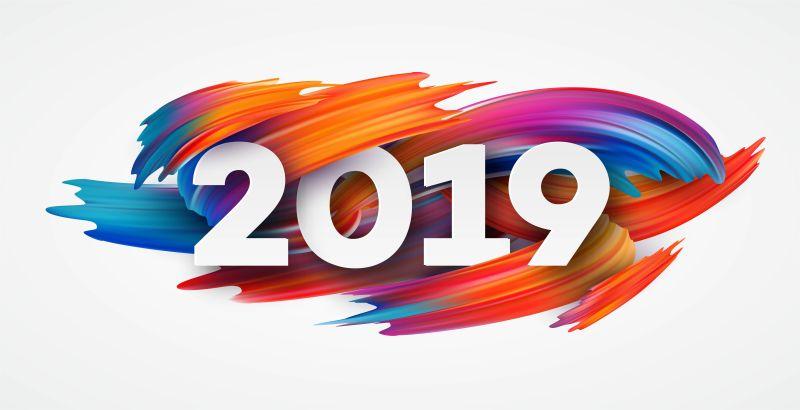 矢量彩色的2019设计