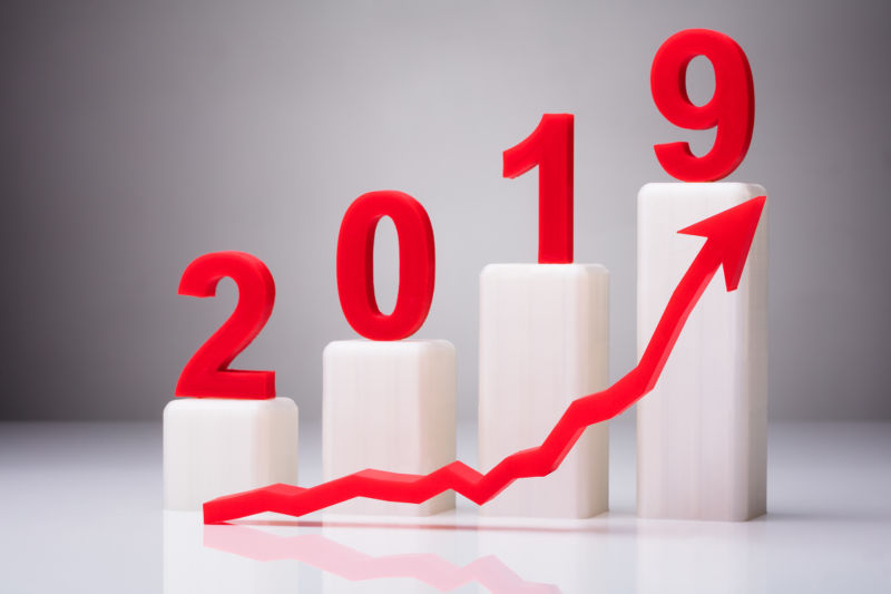 矢量逐年增长的2019