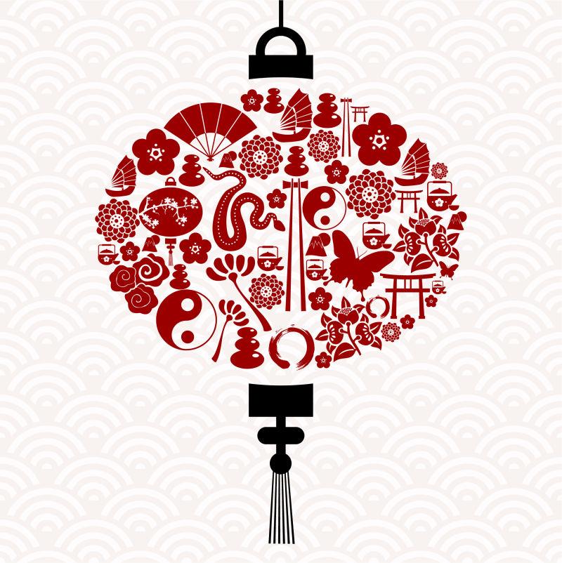 创意的中国灯笼矢量设计
