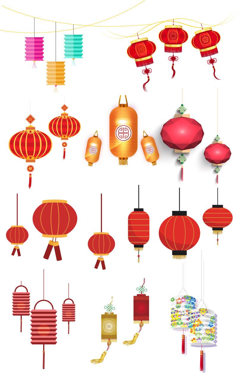 矢量的中国灯笼