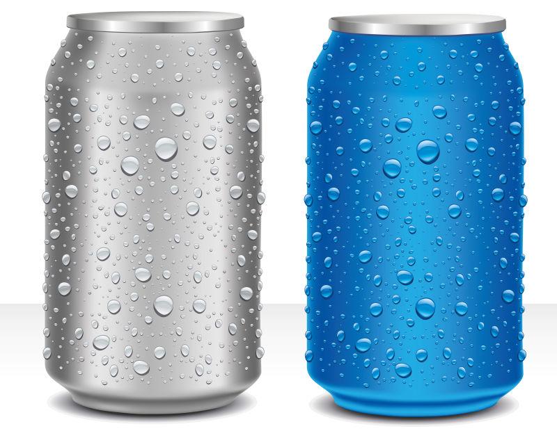 创意矢量冰镇饮料插图设计