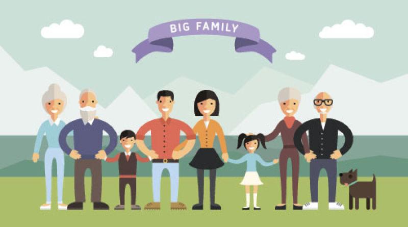 矢量现代抽象幸福的家庭插图设计