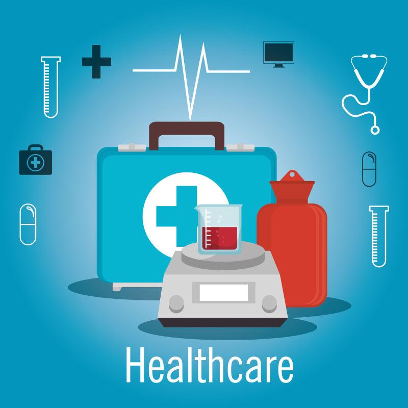 医疗保健平面图标