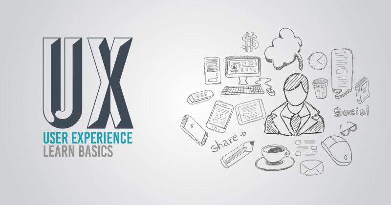 UX用户体验背景概念与涂鸦设计风格