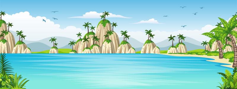 热带海岸景观图