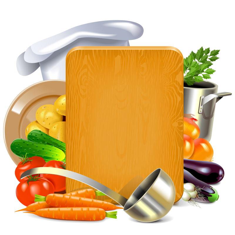 矢量烹饪板