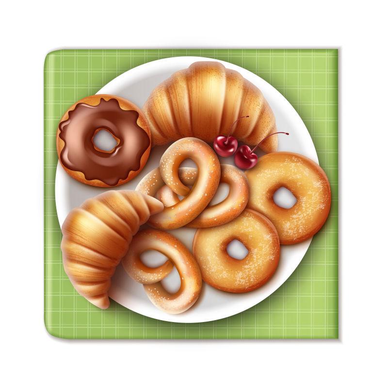 创意矢量面包插图设计