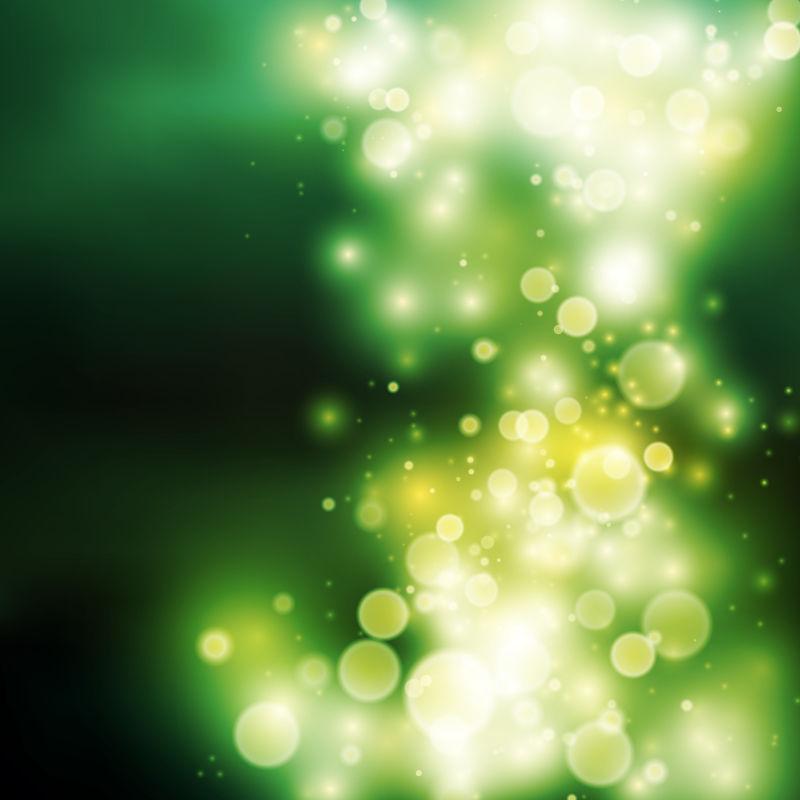 抽象矢量现代绿色光晕背景设计
