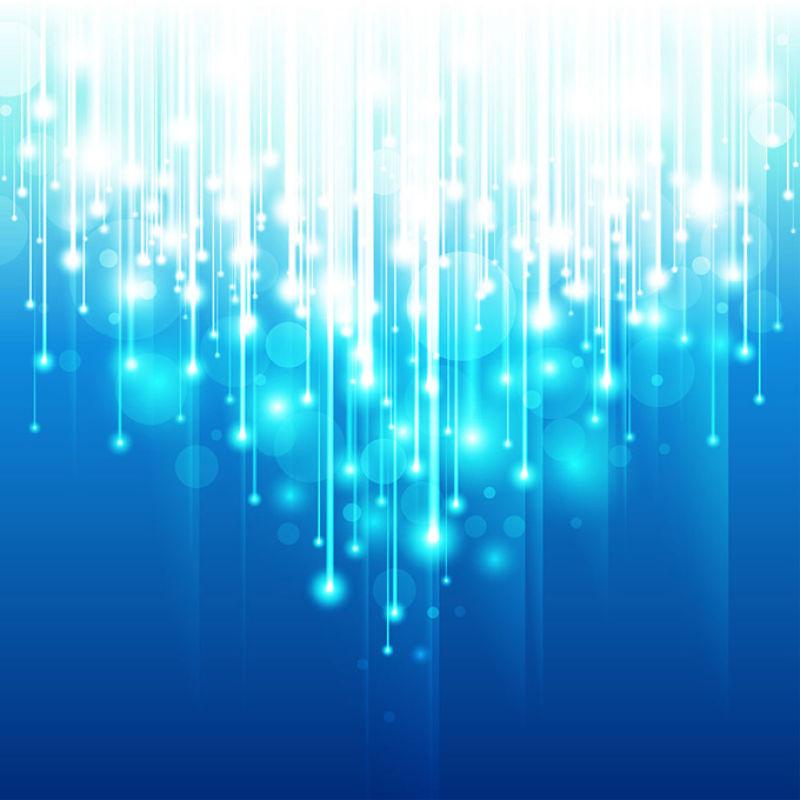 抽象矢量现代蓝色光晕背景设计