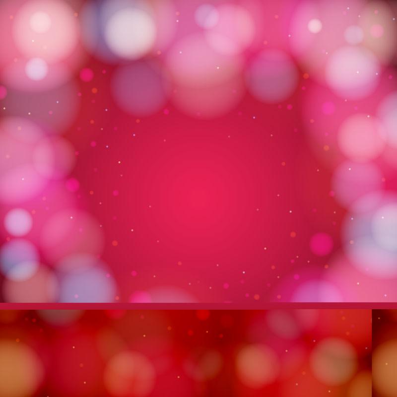 抽象矢量现代红色灯光光晕背景设计