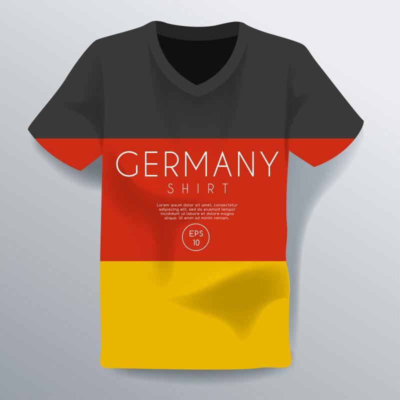 创意矢量德国主题T恤设计