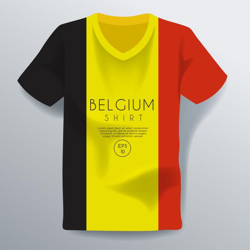 创意矢量比利时主题的T恤设计