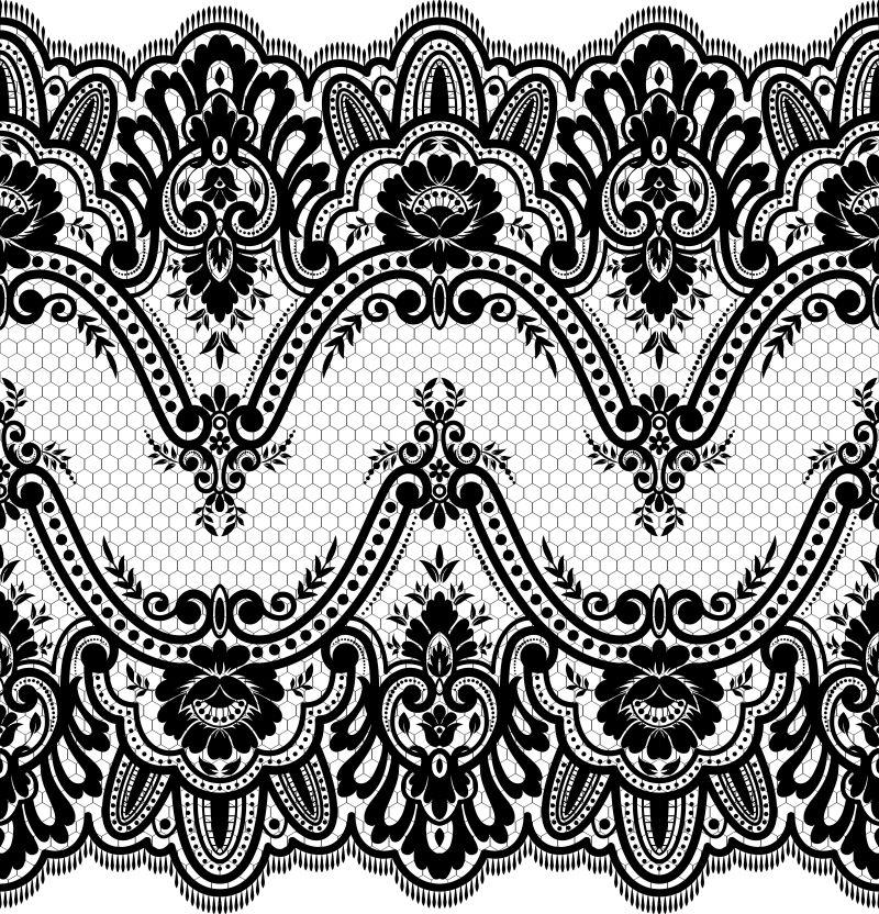 创意矢量现代单色装饰花纹元素设计