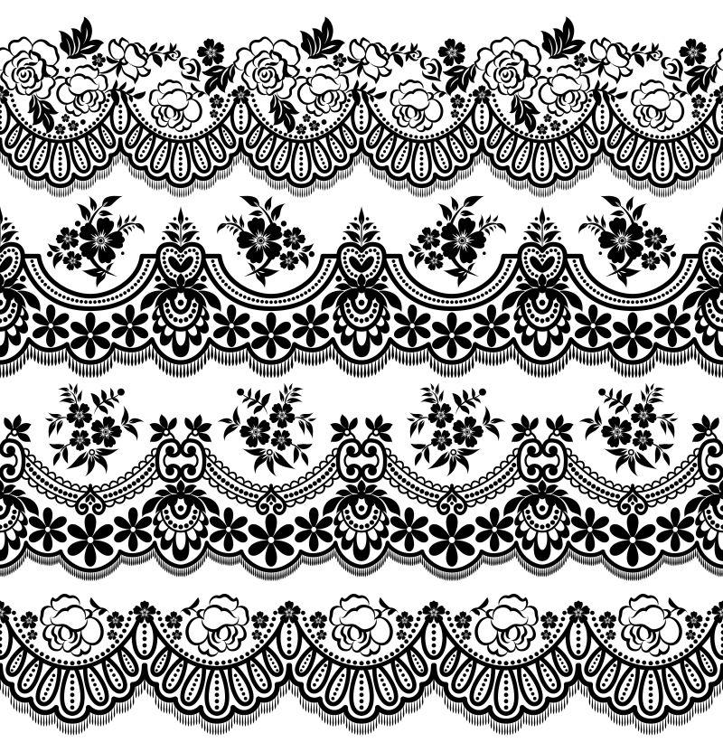 矢量创意现代单色装饰花纹元素设计