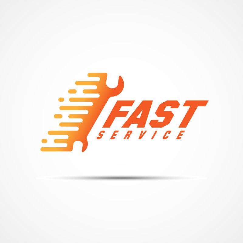 抽象矢量现代快速服务主题的标志设计