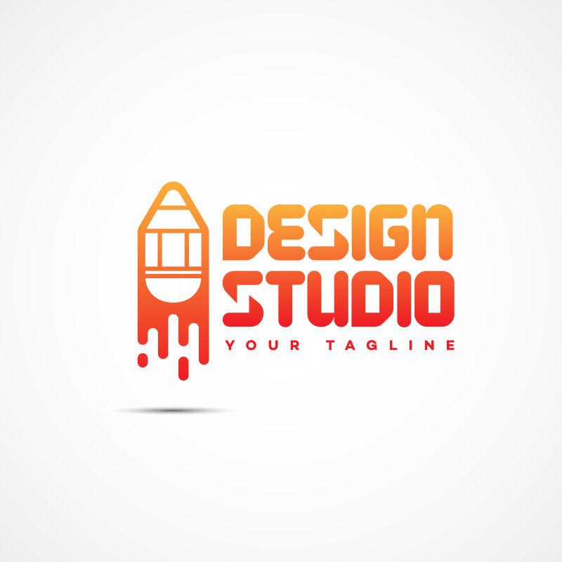 抽象矢量设计工作室标志设计