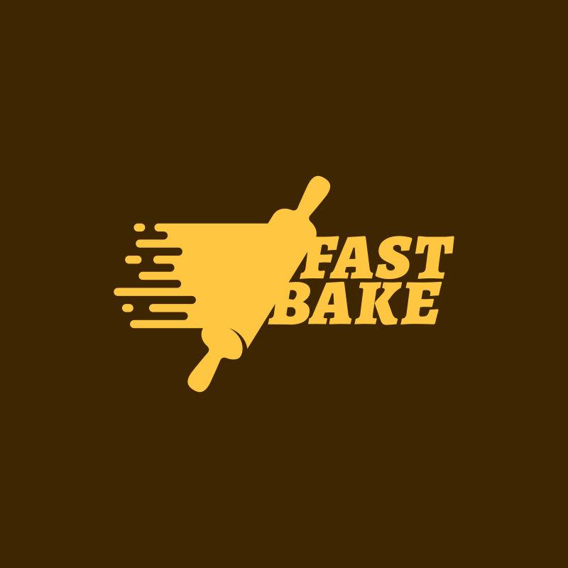 创意矢量快速烘焙主题的标志设计