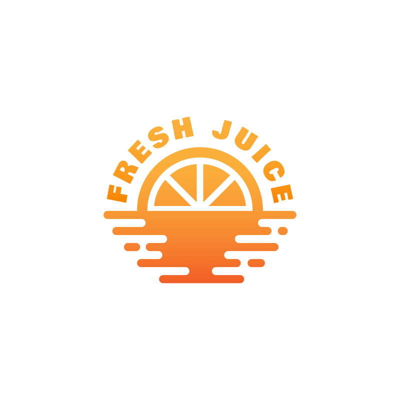 抽象矢量现代新鲜果汁主题的标志设计