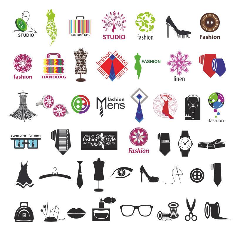 抽象矢量现代服装设计主题的标志设计