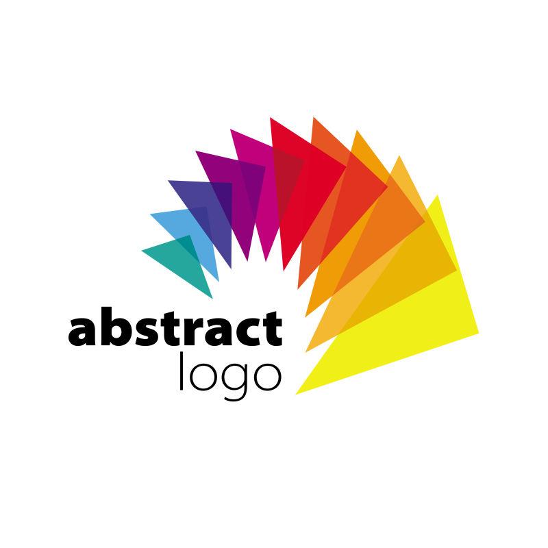 抽象矢量现代七彩艺术标志设计
