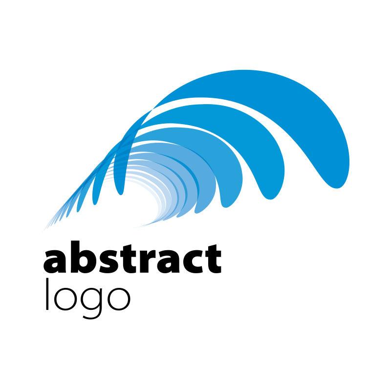 创意矢量现代蓝色弯曲标志设计