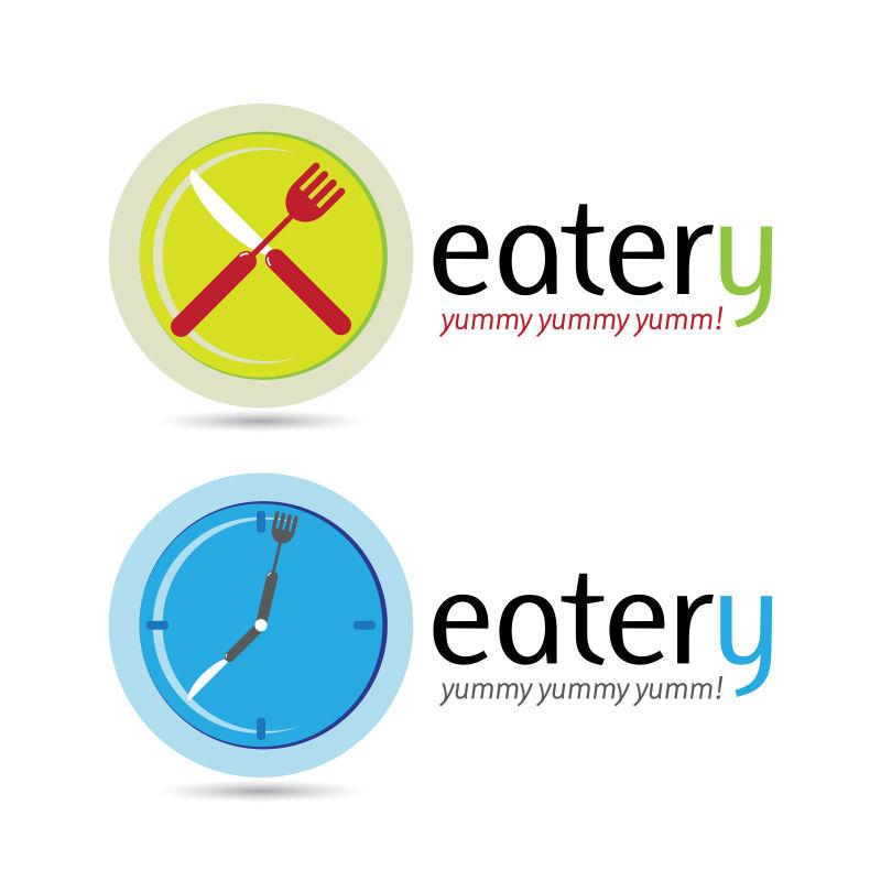 抽象矢量现代食堂标志设计