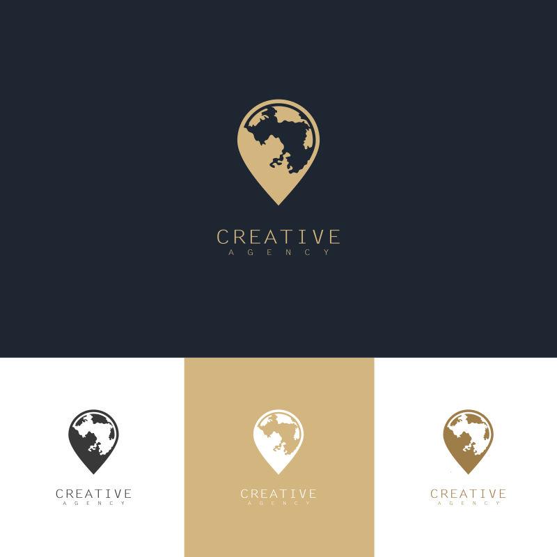 创意矢量现代世界元素的标志设计