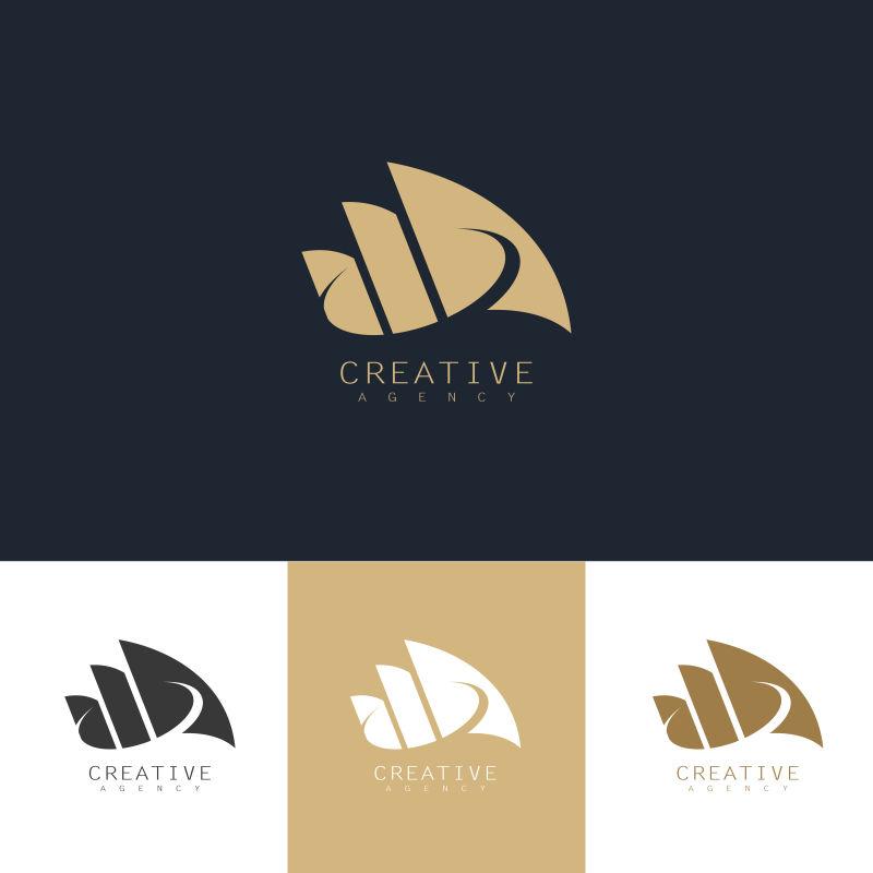 创意矢量现代金色企业标志设计