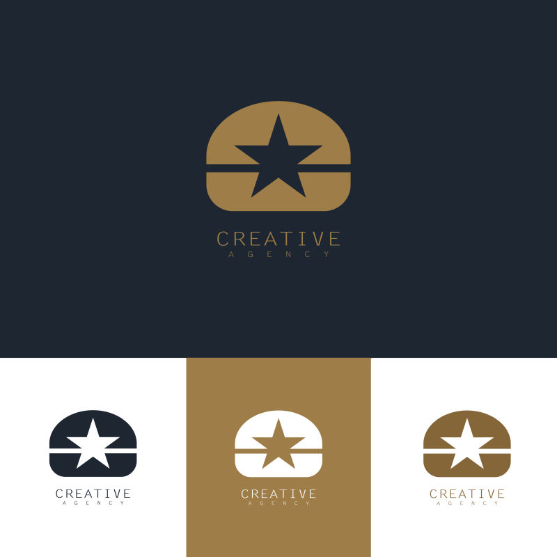 创意矢量明星主题的标志设计